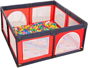 FCXBQ Large portable park with fields  folded playground with balls and carpets  room divider made Oxford fabric for children  boys and girls  height  size  150      u0026 times  150