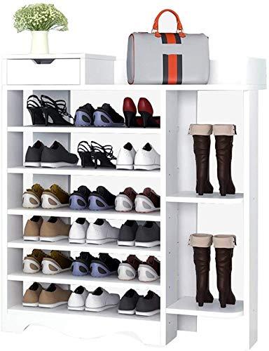 Rack de zapatos Estante de zapatos de gran capacidad, estante de zapatos de almacenamiento grande de siete capas, gabinete de almacenamiento para el hogar con gabinete de zapatos para cajones para ent
