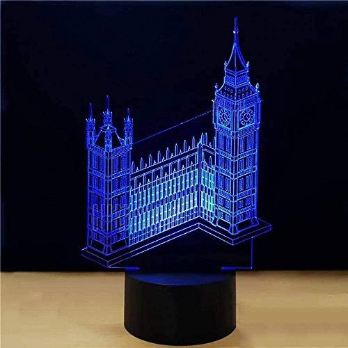 3D Illusie Lampbig Ben Klok Toren Gebouw USB Touch Kinderen Gift