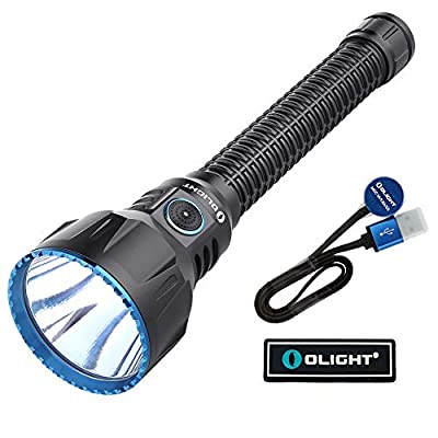 OLIGHT Javelot Turbo 1421 Yard Long Throw Rechargeable LED Flashlight Patch (Black)