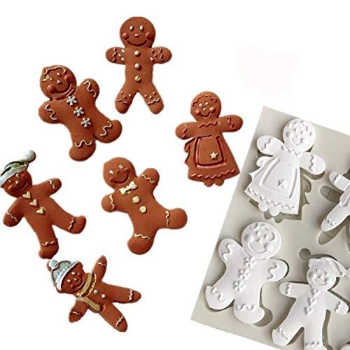 DJSK Lebkuchenmann Weihnachtsserie Silikonform Fondant Kuchenform Schokoladenbonbon Tonform Küche Kochwerkzeuge Geleeformen