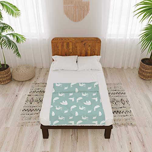 Dreamzie - Bezug Baumwolle für Gewichtsdecke 100x150 cm - 8 Bänder und Reißverschluss für Kinder Bett - Einfach zu Reinigen für Gewichtsdecken