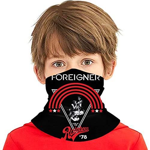 Foreigner Logo Seamless Face Cover/Headband,Scarf for Boy/Girl Black