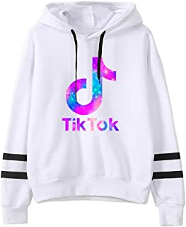 MUBYE TIK TOK Striped Long Sleeve Jumper for Funs Fashion Hoodie Pullover Sweatshirt Unisex