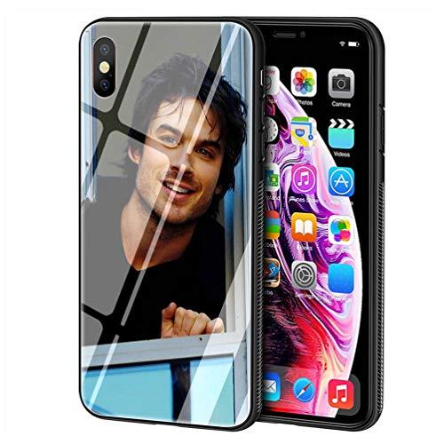 Custodia per Telefono for iPhone 5/5s/SE Cover,Vetro temperato Morbido Bumper in Silicone AntiGraffio Paraurti Custodia LB-96 Ian Somerhalder Phone Case