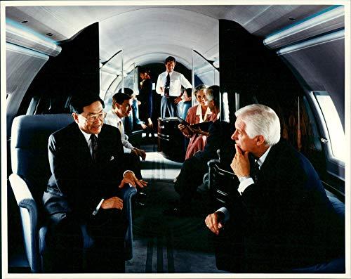 Büro des Canadair Bombardier Global Express Jets - Vintage Press Photo