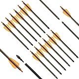 DZGN - Flechas De Perno De Ballesta De 8/16 Pulgadas para Tiro con Arco, Flechas De Ballesta De Carbono con Punta De Flecha Reemplazada, Flechas De Caza para Tiro con Ballesta, Caza,8 Inch,60 Pcs