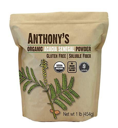Anthony's Organic Acacia Senegal Powder, 1 lb,...