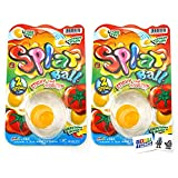 Splat Ball (2 Pack) Egg Sticky and Squishy with 2 GosuToys Stickers
