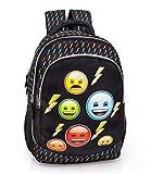 Schulrucksack mit Emoji Motiv Rucksack Tasche Sporttasche All Over (Rucksack)
