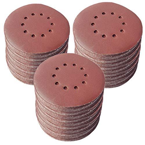 25 discos abrasivos de 225 mm de diámetro, con 10 agujeros, grano P40, lijadora excéntrica de cuello largo de Bohrfux