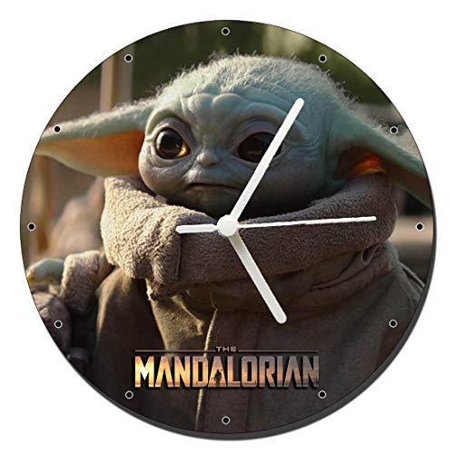 Star Wars The Mandalorian Baby Yoda Wanduhren Wall Clock 20cm