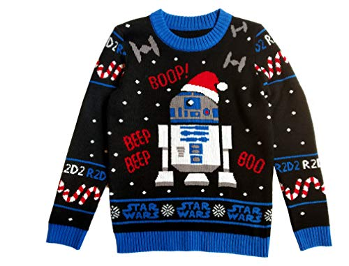 Musterbrand - Star Wars Sweater R2D2 Ugly Christmas Strickpullover Sweater Large Multicolor