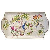 Better & Best Fuente plumcake de Porcelana con Dibujo de pájaros y Flores, Multicolor, 13 cm