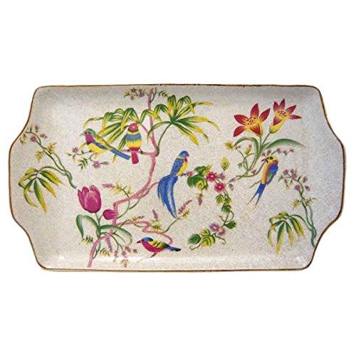 Better & Best 1395410 Fontaine Plumcake de Porcelaine avec Dessin d'oiseaux et Fleurs Multicolore