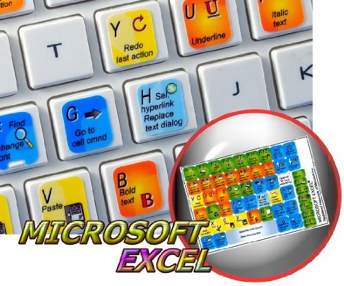 NEW MICROSOFT EXCEL KEYBOARD STICKER FOR DESKTOP, LAPTOP AND NOTEBOOK