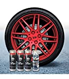 Pack Llantas Vinilo LIQUIDO Full Dip 3 Sprays Rojo Metalizado Brillo