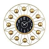 FOLA Reloj de Pared de Oro Reloj de Copa de Vidrio Cubierta Delantera Puntero de Aluminio 21 Pulgadas Moderno Reloj de Pared silencioso