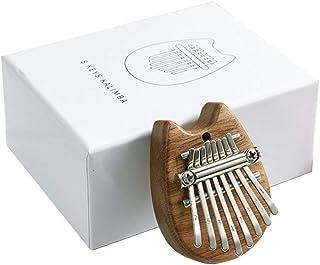 sharprepublic ミニカリンバ 親指ピアノ 8キー マホガニー製 初心者向け 民族楽器 音楽愛好家 プレゼント 全7選択 - ウッド猫