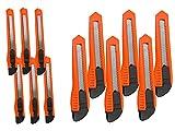LEDLUX Kit 6 Taglierini Cutter Da 18mm + 6 Taglierini Cutter Piccoli Da 9mm (Totale 12 Pezzi)