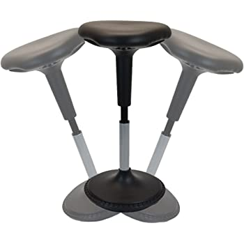 Wobble Stool Standing Desk Chair for Active Sitting Modern sit Stand up Desk stools high Perching Perch Office Chairs Tall Swivel Leaning Ergonomic Computer Balance