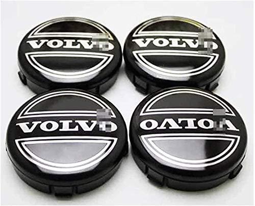 4 Piezas Coche Tapas Centrales Llantas Para Volvo S40 S60 S80L XC60 XC90, 64mm Tapas Rueda Centro Tapacubos Coche Insignia Del Polvo Accesorios De Estilo