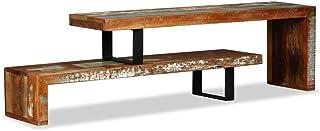 vidaXL TV Schrank Vintage Look Fernsehtisch Fernsehschrank Lowboard TV Möbel Tisch Board Sideboard HiFi Schrank Recyceltes Massivholz