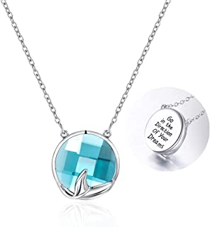 """Tarsus Mermaid Pendant Necklace Jewelry Gifts for Women Teen and Little Girls Chain 18+2"""""""