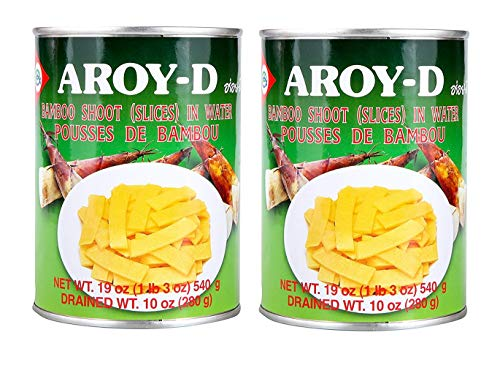 Aroy-D Bamboo Shoot (Slices) in Water 19oz, 2 Pack