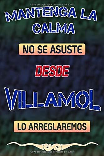 Mantenga la calma no se asuste desde Villamol lo arreglaremos: Cuaderno | Diario | Diario | Página alineada