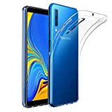 Amonke Coque Samsung Galaxy A7 2018, Ultra Clair TPU Silicone Transparent Souple Housse Etui Coque...