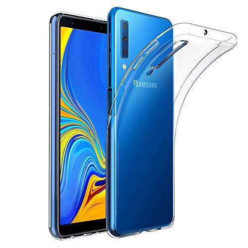 Amonke Handyhülle Für Samsung Galaxy A7 2018, Silikon Transparent Hülle für Samsung A7 2018, Ultra Dünn Durchsichtige TPU Schutzhülle für Galaxy A7 2018 (6 Zoll)
