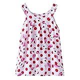 Hirolan Baby Strampler Mdchen Blumenrock Kleinkind Prinzessin Tutu-Kleid Kindermode Sommerkleider rmelloses Cocktailkleid Baumwolle Badebekleidung Shirtkleid Taufbekleidung (120CM, Rot)