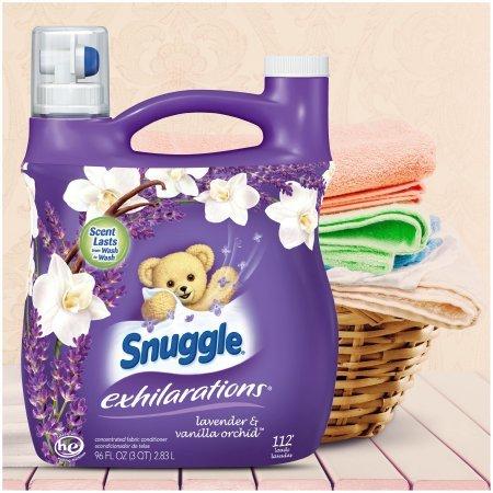 Snuggle Exhilarations Lavender & Vanilla Orchid Concentrated Liquid Fabric Conditioner 96 fl. oz. Jug - 2 PACK
