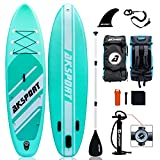 """Best Inflatable Paddle Boards - AKSPORT 10'6""""×32""""×6"""" Inflatable Stand Up Paddle Board Review"""