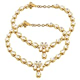 Shining Diva Gold Plated Traditional Jewellery Kundan Payal Anklets for Women & Girls