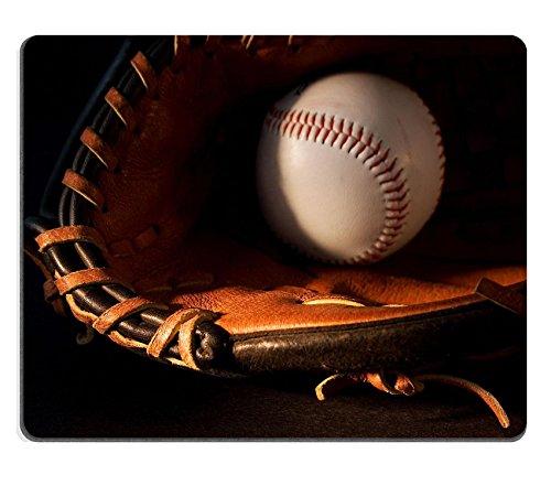 luxlady Gaming Mousepad pelota y guante de béisbol imagen ID 567045