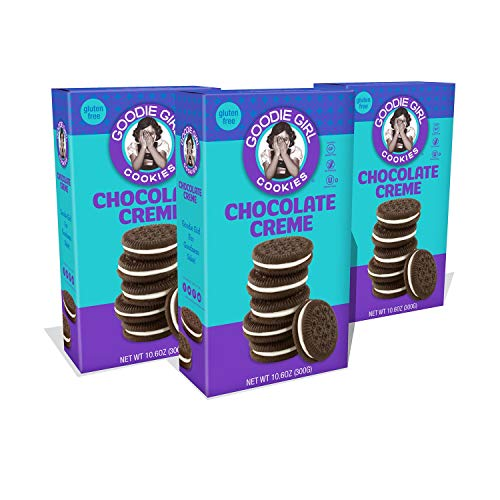 Goodie Girl Gluten Free Cookies, Chocolate Creme, Certified Gluten Free, Peanut Free, Egg Free, and Kosher (10.6oz Boxes, Pack of 3)