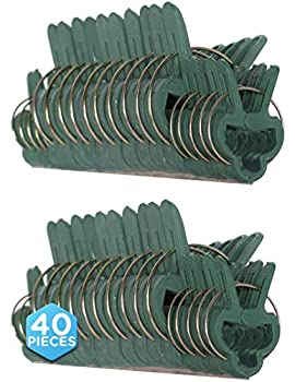 Ram-Pro 40 Piece Green Gentle Gardening Plant & Flower Lever Loop Gripper Clips Tool for Supporting or Straightening Plant Stems Stalks and Vines Garden Clips