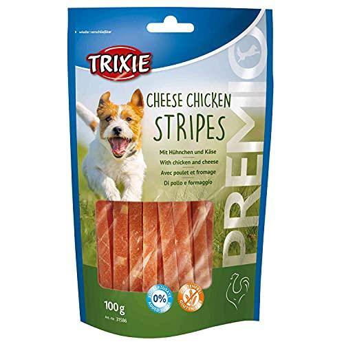 Trixie 31586 PREMIO Cheese Chicken Stripes, 100 g