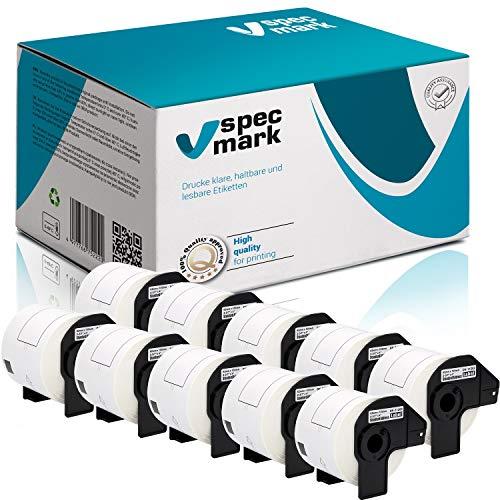 specmark 10 Rollen Einzeletiketten für Brother DK-11202 62mm x 100mm 300 Stück Etiketten kompatibel zu allen QL-Etikettendruckern QL-570 QL-700 QL-800