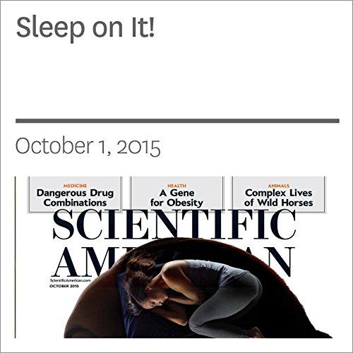 Sleep on It! audiobook cover art