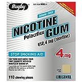 RUGBY Sugar-Free Nicotine Gum 4MG - Original - 110 Pieces by RUGBY