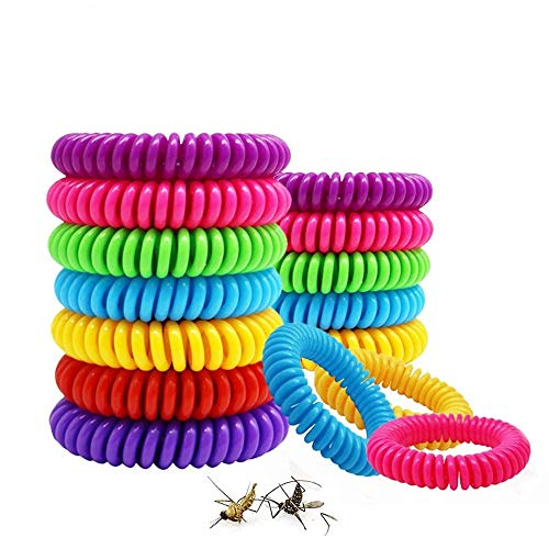 Sopplea Lot de 20 Bracelet Anti-Moustique, Bracelets...