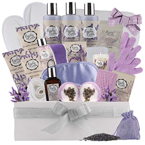 XL Mothers Day Spa Gift Basket for Mom. Relaxation Basket Spa Bath Set with Essential Oils & Organic Ingredients! Luxury Gift Basket for Women Prime! #1 Holiday Gift, 25+ Luxury Bath & Body Treats!