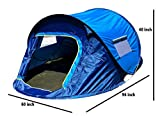 Navisima Instant Pop Up Tent - Automatic Hydraulic Camping Tent for 3 Person - Dome Tent for Outdoor Family Hiking, Backpacking, Camping (Blue)