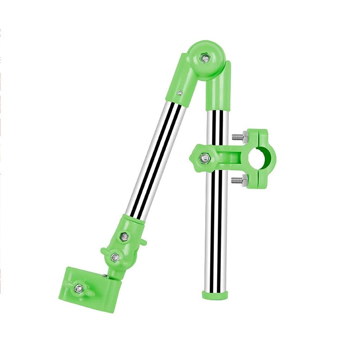 デザートフォーカス人に関する限りXyanzi 自転車の電気自動車のための傘立て、ステンレス鋼360°+ 180°の二方向調節そして取り外し可能なブラケット (色 : 緑)