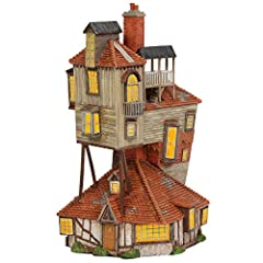 "DEPARTMENT 56 LIT BUILDING from the Harry Potter Village collection COORDINATES with our ""Fred and George Weasley"" figurine set (ASIN B07MG4H6Q4 sold separately) HAND-CRAFTED from resin material and hand-painted with intricate details POWER FEATURES ..."