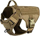 Lightweighting Tactical Dog Harness with Handle,K9 Working Training Molle Vest,No-Pull Front Clip, Hook and Loop Panel for Dog ID Personalized Badge Patch