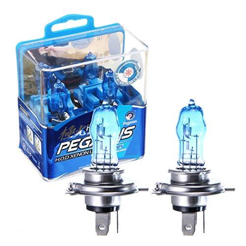 N-B 2 Piezas H7 100W 12V lámparas antiniebla Blancas ultrabrillantes Bombillas halógenas de Alta penetración para Todos los Faros Delanteros de Coche con máxima Visibilidad